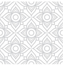 thai flowers seamless pattern grey floral vector image