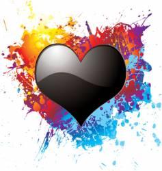 dark love vector image vector image