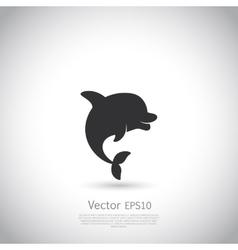 Dolphin icon or logo Black vector image vector image