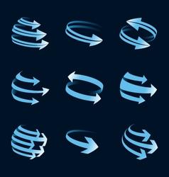 global arrow icons vector image vector image