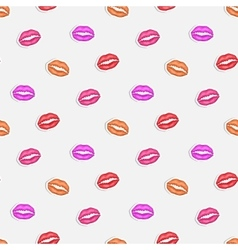 Lip imprint vector image