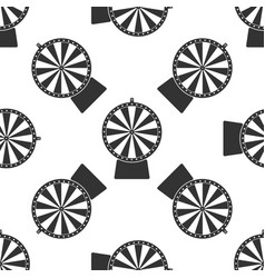 lucky wheel icon seamless pattern vector image