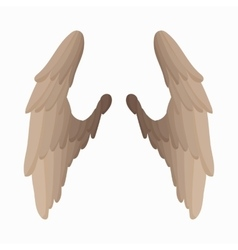 Pair of bird wings icon cartoon style vector image vector image