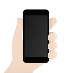 Smartphone in male Hand Design Template vector image vector image
