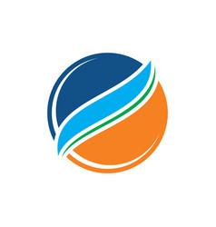 circle business logo vector image vector image