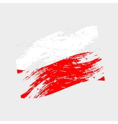 color poland national flag grunge style eps10 vector image
