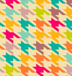 Houndstooth trendy pattern vector image vector image