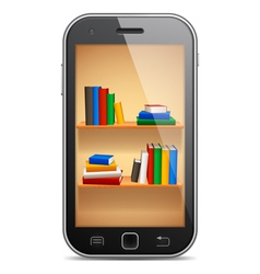 Mobile library vector image