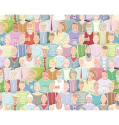 Colorful People Background Seamless Pattern vector image vector image