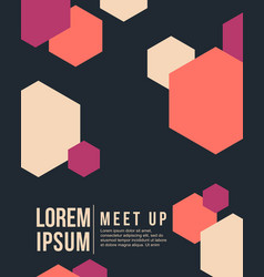 cool colorful background card for meet up vector image vector image