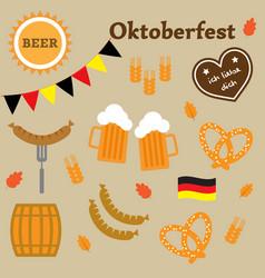 germany oktoberfest elements vector image