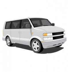 minivan vector image