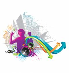 power of sound vector image