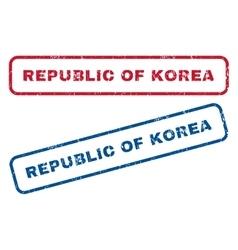 Republic Of Korea Rubber Stamps vector image vector image