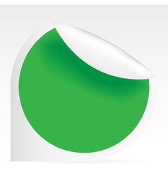 sticky green speech bubble vector image