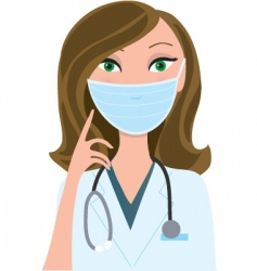 woman medical mask vector image