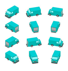 animation rotation car in isometric vector image