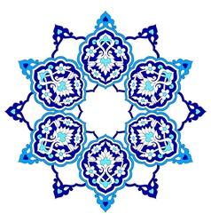 Artistic ottoman pattern series seventy eight vector