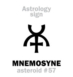 astrology asteroid mnemosyne vector image