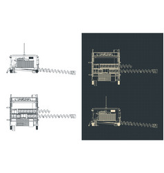 Auger system drawings vector