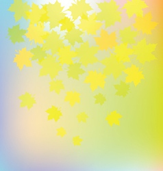 autumn colorful leaves on colorful background vector image