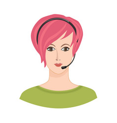 Avatar icon female profile sign woman portrait vector