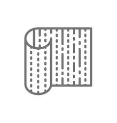Bamboo sushi mat line icon vector
