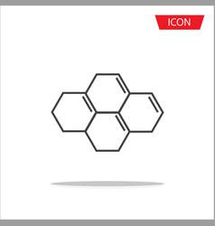 biochemistry icon atom icon vector image