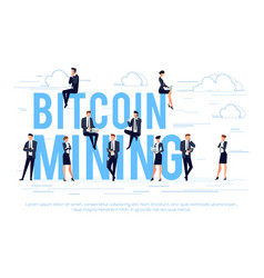 bitcoin mining business concept vector image