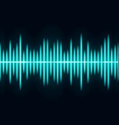 blue sound wave light wave effect vector image
