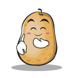 Blush potato character cartoon style vector