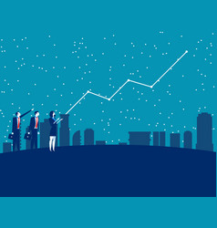 Business people and forecasting future profits vector