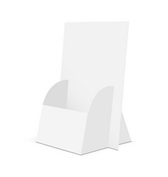 Cardboard brochure display stand - half side view vector