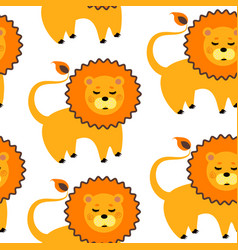 cartoon lion pattern vector image