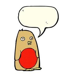 cartoon robin with speech bubble vector image