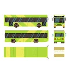 City bus in different view positions vector