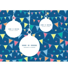 Colorful doodle bunting flags christmas ornaments vector