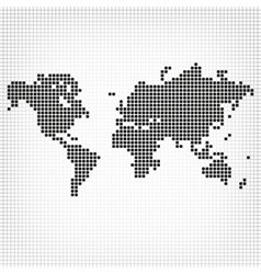 Creative abstract square shape formed world map vector