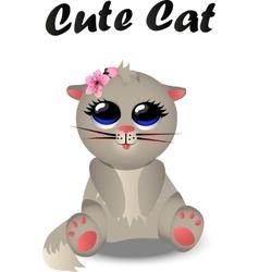 Cute cat pattern vector