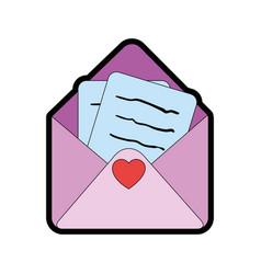 Cute letter cartoon vector