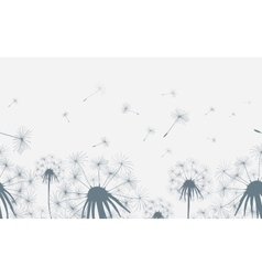 Dandelion field seamless background vector