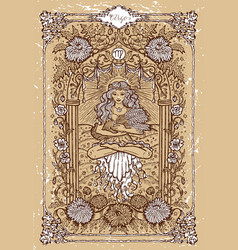 Fantasy zodiac sign virgo in gothic frame vector