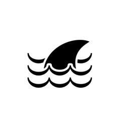 fin icon vector image