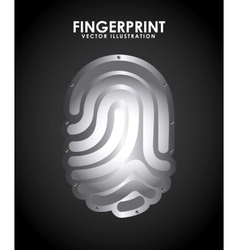 fingerprint design vector image
