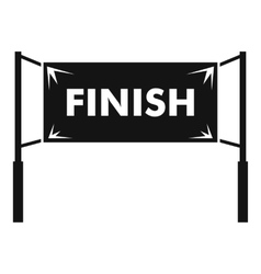 Finish line gates icon simple style vector