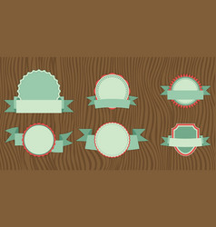 flat design of web stickers tags banners and vector image