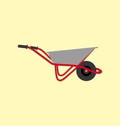 Garden wheelbarrow icon vector