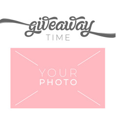 Giveaway banner template for social media with vector