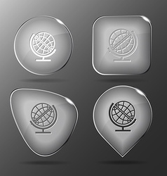 Globe Glass buttons vector