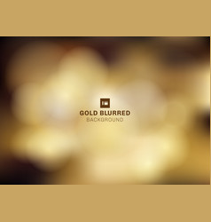 gold bokeh blurred dark background for christmas vector image